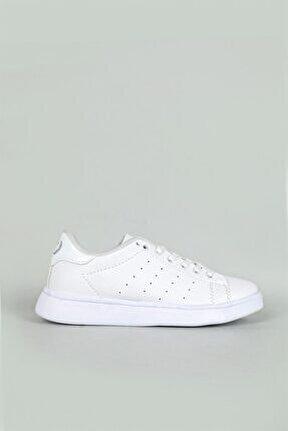 Günlük Bağcıklı Beyaz Unisex Spor Ayakkabı 504