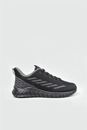 Günlük Koşu Yürüyüş Siyah Unisex Spor Ayakkabı Hellıum Petra