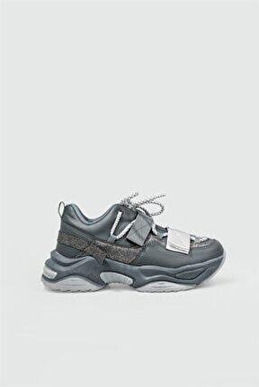 Sneakers Füme Kadın Spor Ayakkabı 075