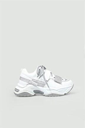 Sneakers Beyaz Kadın Spor Ayakkabı 075