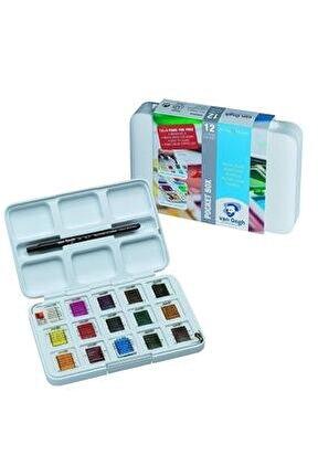 Van Gogh Tablet Sulu Boya 15 12+3 Renk + 25x35 Cm 300 Gr Defter - 07.17.553.003