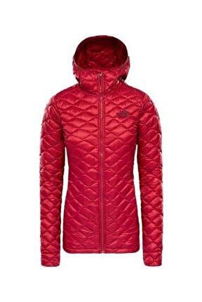 Kadın Kırmızı Mont  Thermoball Hooded Insulated