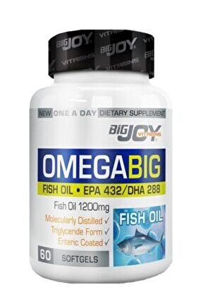Bıgjoy Vıtamıns Omegabig 60 Softgel Skt:02/2021