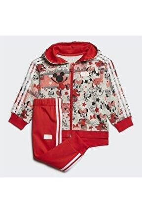 Çocuk Kırmızı Minnie Mouse Jogger Eşofman Takımı