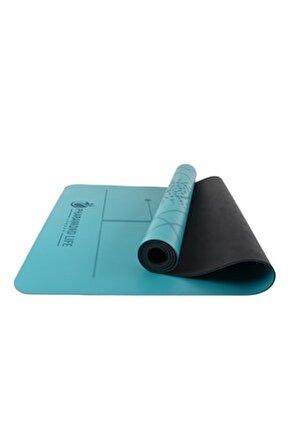 Life AsanaAlign Premium Warriorgrip Yoga Mat Turkuaz