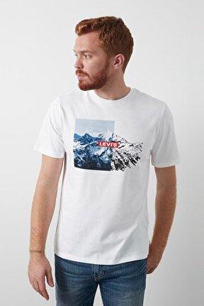 Baskılı Bisiklet Yaka % 100 Pamuk T Shirt Erkek T Shirt 16143