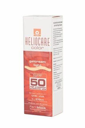 Güneş Koruyucu & Bronzlaştırıcı Jel Krem - Color Gelcream Light Spf 50 50 Ml 8470001638151