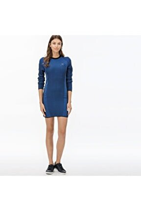 Kadın Saks Mavi Elbise