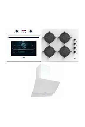 Chef 6 Ankastre Üçlü Set (HAK 627 B Fırın + TVT 60.1 Davlumbaz + PAC 60 4G AI AL CI Ocak)