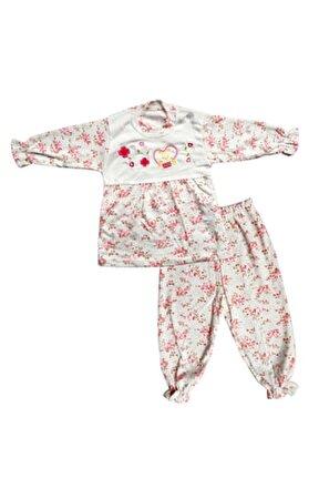 Pamuklu Kız Bebek Vintage Pijama Takımı
