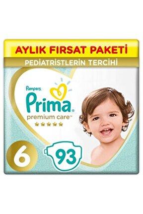 Bebek Bezi Premium Care 6 Beden 93 Adet Aylık Fırsat Paketi