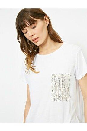 Kadın Ekru T-Shirt 0YAK13613EK