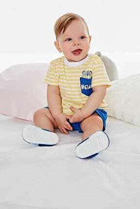 Wonder Kids 8160 Erkek Bebek Sarı 2'li Takım