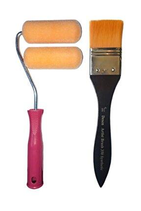 Iz Bırakmayan Sihirli Rulo Seti 10 Cm+ İz Bırakmayan Desen İpek 1,5'' Fırça:4 cm - avantaj Paketi