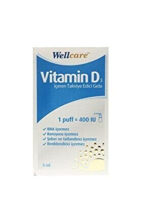 Vitamin D3 400 Iu 5 Ml Sprey