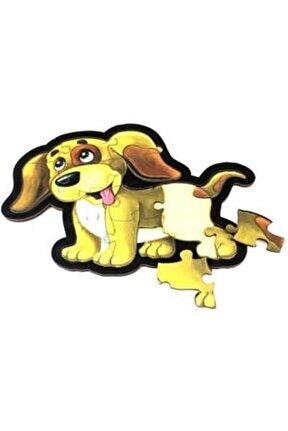 Sarı Köpek Ahşap Puzzle 14 Parça