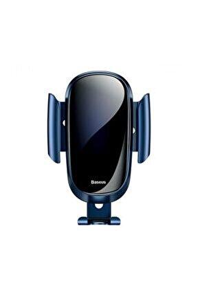 Future Gravity Serisi Cam Yüzey Araç Içi Havalandırma Telefon Tutucu Mavi