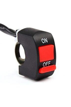 Motosiklet Sis Farı Aç Kapa Düğmesi / Butonu / Kırmızı