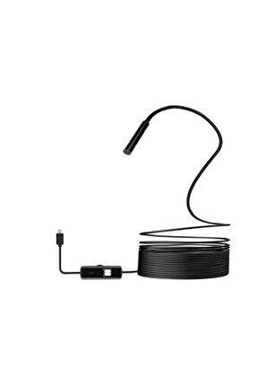 Eco Endoskop Boroskop Yılan Kamera 5 m Soft Kablo