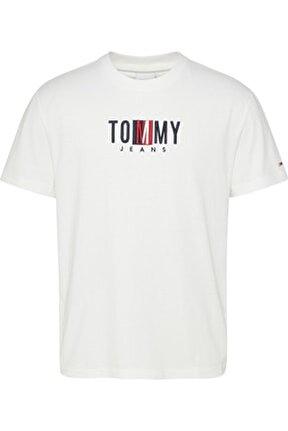 Erkek Beyaz T-Shirt Tjm Tımeless Tommy Box Tee DM0DM10218