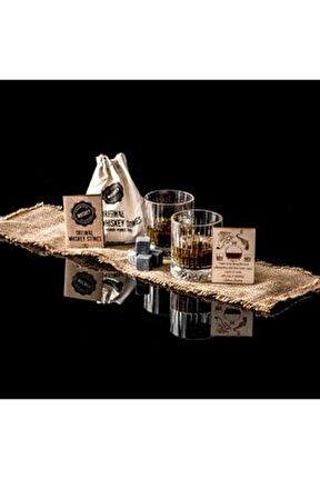 Glasgow 2'li Viski Kadeh Seti - Viski Bardağı - Hediyelik İki kişilik Whisky Bardakları Taşı Kesesi