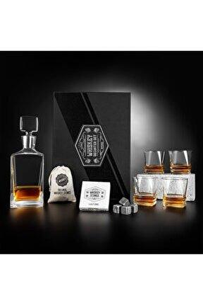 Premium Kutulu 4 Kadehli Speyside Viski Bardak Karaf Seti
