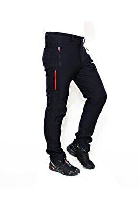 Siyah Likralı Trekking Pantolon Hiker300