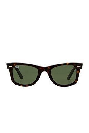 Unisex Kahverengi Dikdörtgen Güneş Gözlüğü