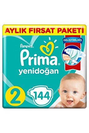 Bebek Bezi Aktif Bebek 2 Beden 144 Adet Standard Paket