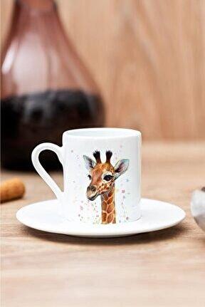 Zürafa Baskılı Kahve Fincanı