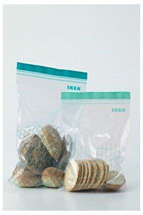 Istad Kilitli Buzdolabı Poşeti Ikea 30 Adet, turkuaz-açık turkuaz