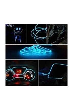 Araç Içi Aydınlatma Ip Neon Led Buz Mavisi