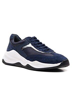 Erkek Deri Lacivert Spor Ayakkabı