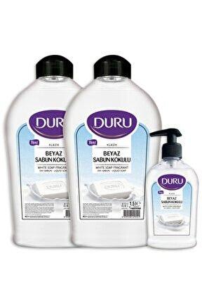 Beyaz Sabun Kokulu Sıvı Sabun 1,5+1,5+300ml