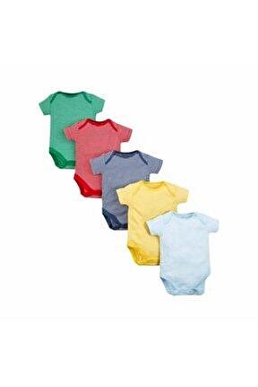 Erkek Bebek Beyaz 5li Çıtçıtlı Zıbın