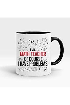 Matematik Öğretmeni Baskılı İçi ve Kulpu Renkli Kupa