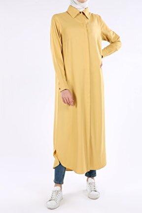 Kadın Sarı 51461 Uzun Gömlek Tunik