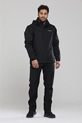 Tipas Erkek Yağmurluk Mont Siyah