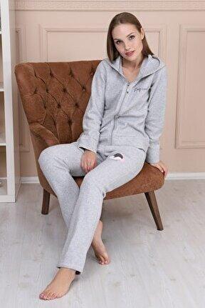 Gri Kadın Pijama Takımı