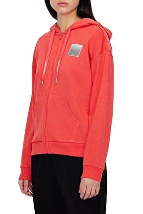 Kadın Kırmızı Kapüşonlu Sweatshirt 3kym61 Yj2hz 1663