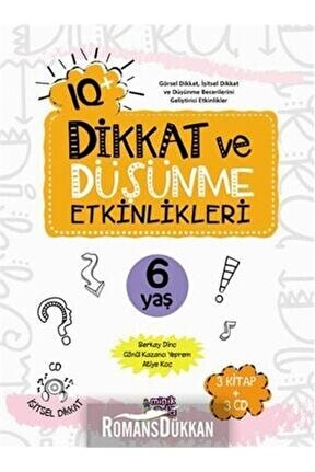 Iq+ Dikkat Ve Düşünme Etkinlikleri 6 Yaş & 3 Kitap + 3 Cd