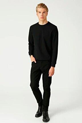 Siyah Slim Fit Erkek Pantolon Lf2025367