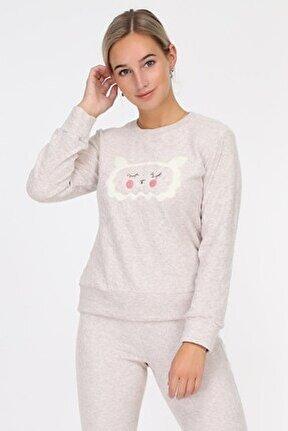 Bej Kadın Pijama Takımı