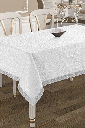 Kdk Dertsiz Masa Örtüsü  - Beyaz