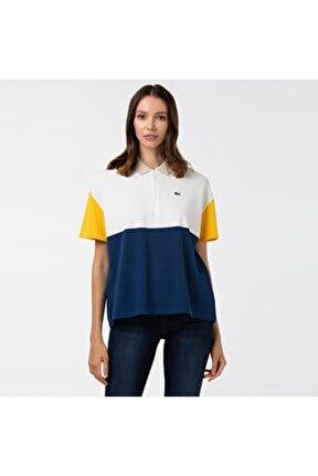 Kadın Blok Desenli Renkli Polo