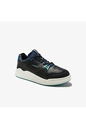 Court Slam 0320 1 Sma Erkek Deri Siyah - Mavi Sneaker