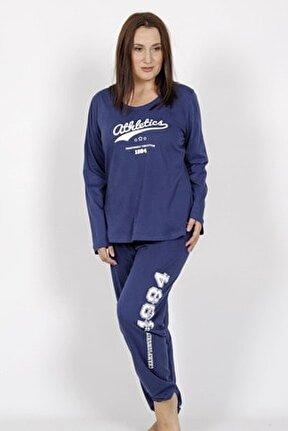 Büyük Beden Uzun Kol Pijama Takım
