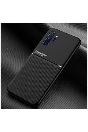 Samsung Galaxy Note 10 Plus Kılıf Zebana Design Silikon Kılıf Siyah