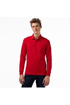 Erkek Regular Fit Uzun Kollu Kırmızı Paris Polo