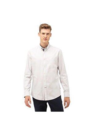 Nautıca Erkek Gri Slim Fit Gömlek